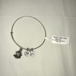 Alex and Ani silver bracelet with pearl